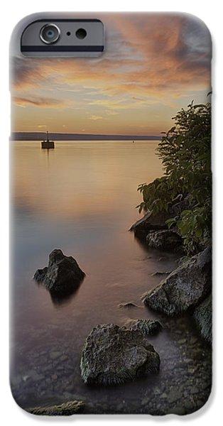 Cayuga Sunset I IPhone Case by Michele Steffey