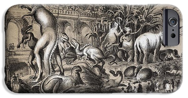 Central Park Dinosaurs, 1869 IPhone Case by Paul D. Stewart