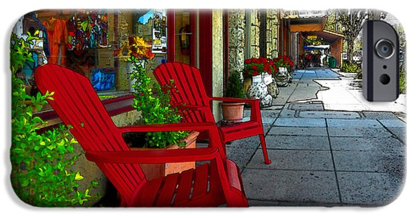 Chairs On A Sidewalk IPhone 6s Case by James Eddy