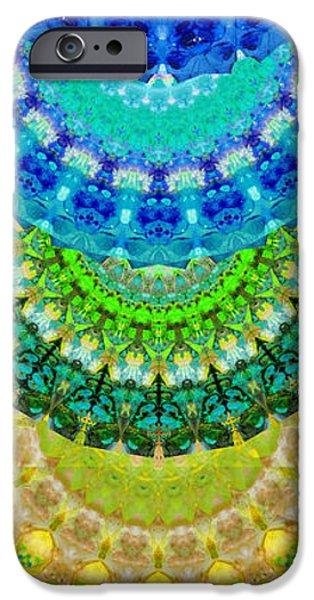 Chakra Mandala Healing Art By Sharon Cummings IPhone Case by Sharon Cummings