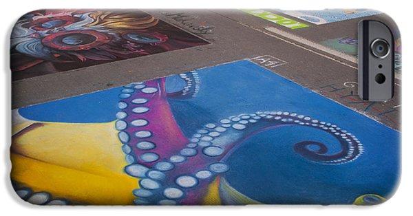 Chalk Art. Denver Chalk Art Festival 2014 IPhone Case by Juli Scalzi
