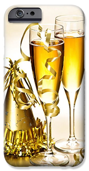 Champagne And New Years Party Decorations IPhone Case by Elena Elisseeva