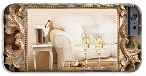 Champagne Frame IPhone Case by Amanda And Christopher Elwell