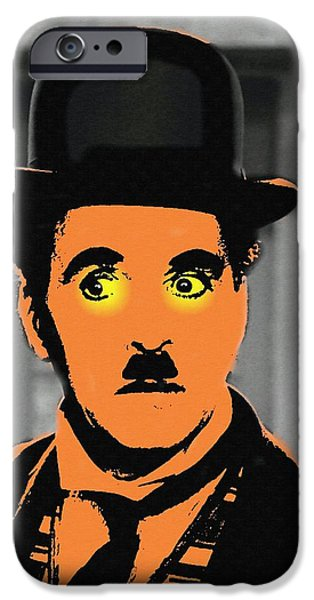 Charles Chaplin Charlot In The Great Dictator IPhone Case by Art Cinema Gallery