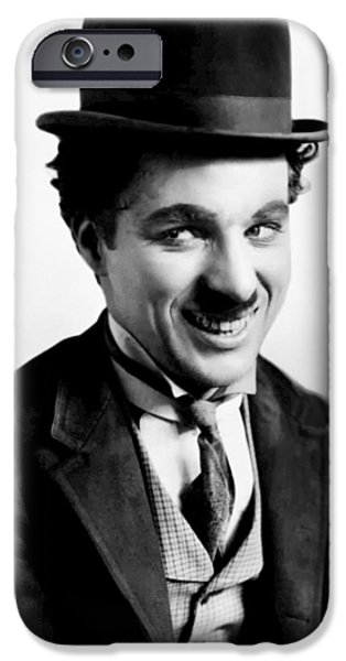 Charlie Chaplin IPhone Case by Mountain Dreams