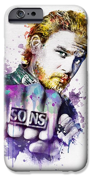 Charlie Hunnam As Jax In Watercolor IPhone 6s Case by Marian Voicu