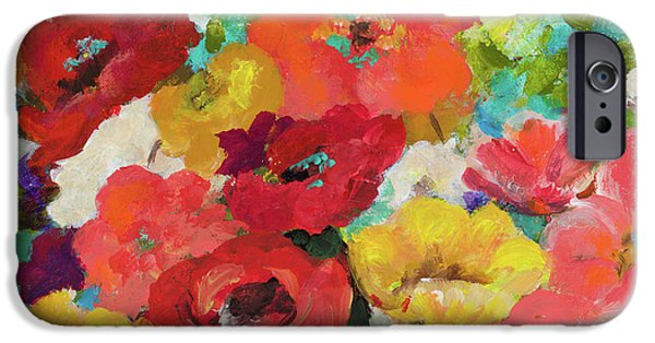 Cheerful Flowers II IPhone Case by Patricia Pinto