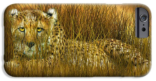 Cheetah - In The Wild Grass IPhone 6s Case by Carol Cavalaris