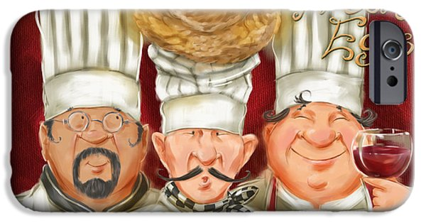 Chefs With Fresh Eggs IPhone Case by Shari Warren