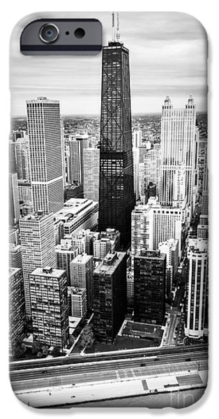 Chicago Aerial With Hancock Building In Black And White IPhone 6s Case by Paul Velgos