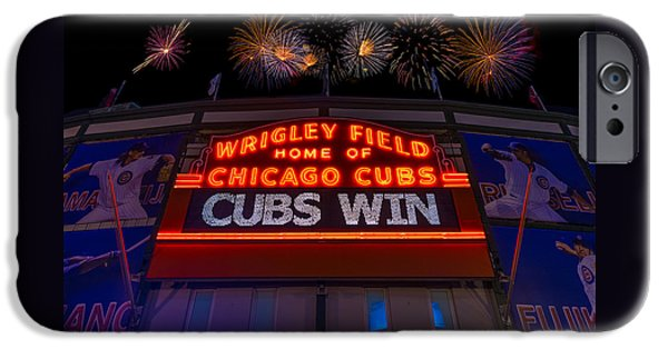 Chicago Cubs Win Fireworks Night IPhone Case by Steve Gadomski