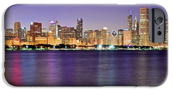 Chicago Evening Panorama IPhone Case by Frozen in Time Fine Art Photography