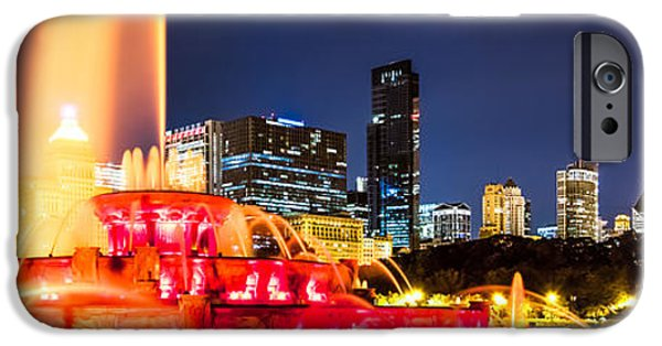 Chicago Skyline At Night Panorama Photo IPhone Case by Paul Velgos