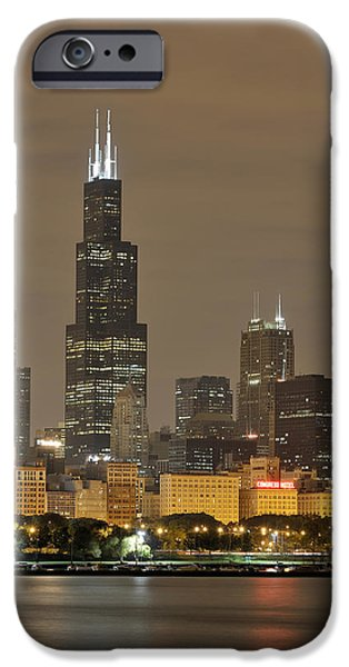 Chicago Skyline At Night IPhone 6s Case by Sebastian Musial