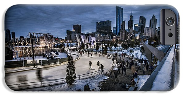 Chicago's Ice Ribbon At Dusk IPhone Case by Sven Brogren