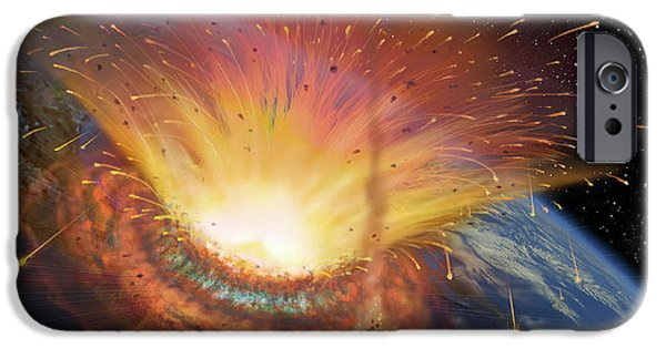 Chicxulub Impact Event IPhone Case by David A. Hardy