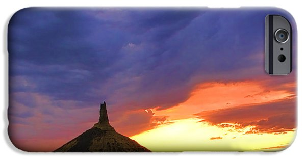 Chimney Rock Nebraska IPhone 6s Case by Olivier Le Queinec