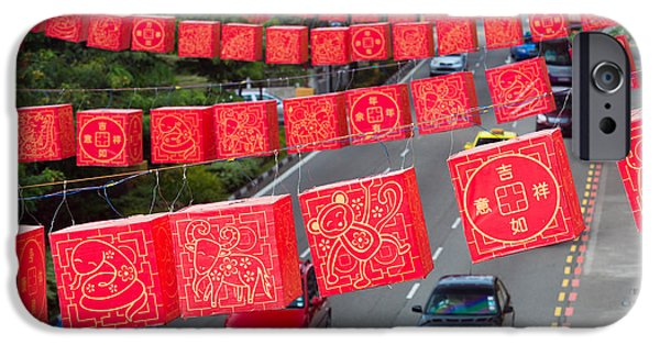 Chinese Lanterns Hanging During Chinese IPhone Case by Panoramic Images