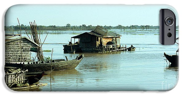 Chong Kneas Floating Village IPhone Case by Rick Piper Photography
