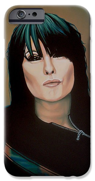 Chrissie Hynde Painting IPhone Case by Paul Meijering