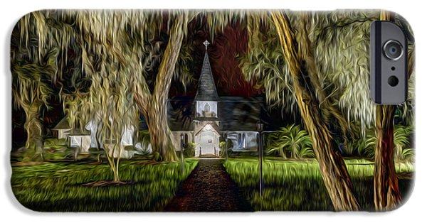 Christ Church IPhone Case by Debra and Dave Vanderlaan