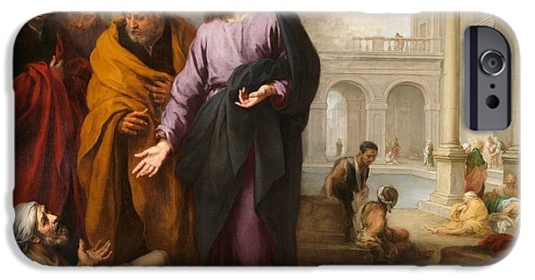 Christ Healing The Paralytic At The Pool Of Bethesda IPhone Case by Bartolome Esteban Murillo