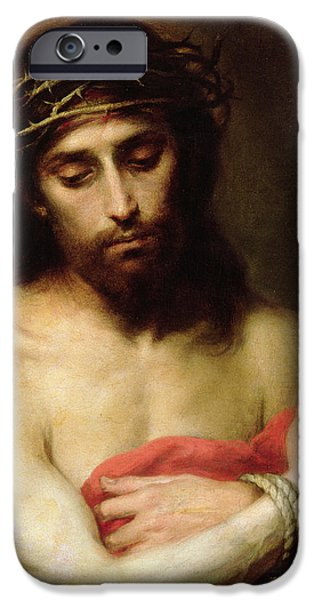 Christ The Man Of Sorrows IPhone Case by Bartolome Esteban Murillo