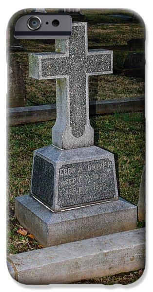 Christian Tombstone IPhone Case by Robert Hebert