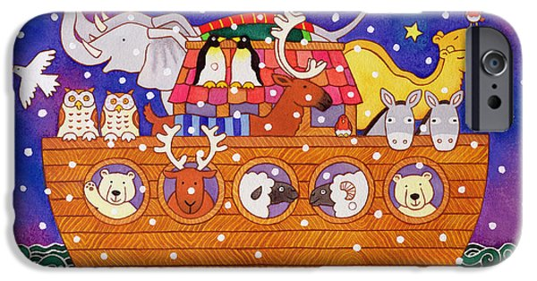 Christmas Ark IPhone Case by Cathy Baxter