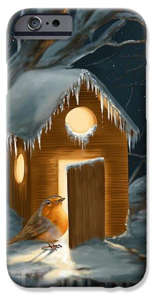 Christmas Robin IPhone Case by Veronica Minozzi