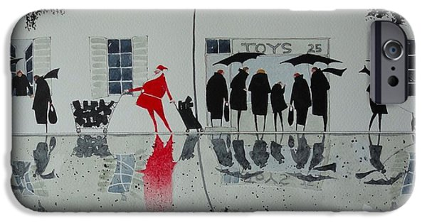Christmas Shopping IPhone Case by Paul De Ath