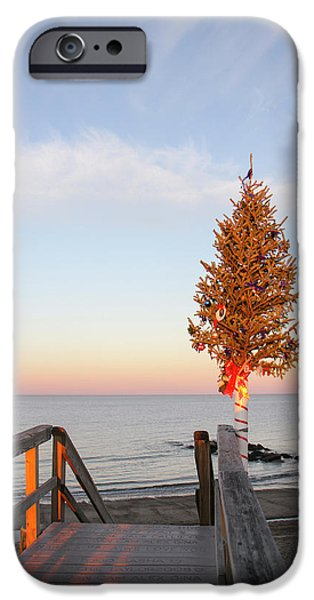Christmas Tree At The End Of Sandwich IPhone Case by Susan Pease