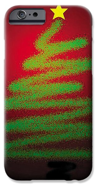 Christmas Tree With Star IPhone Case by Genevieve Esson