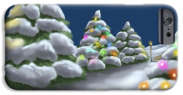 Christmas Trees IPhone Case by Veronica Minozzi
