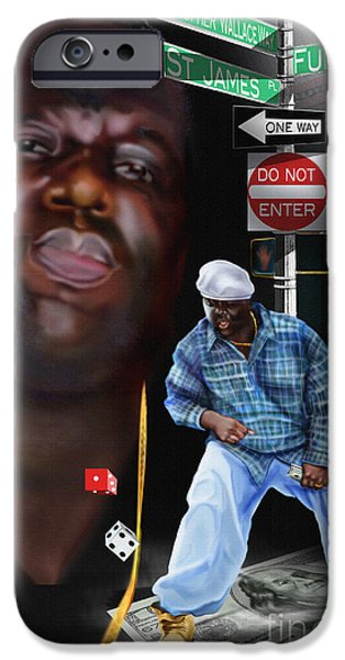 Christopher Wallace Way - Biggie IPhone Case by Reggie Duffie