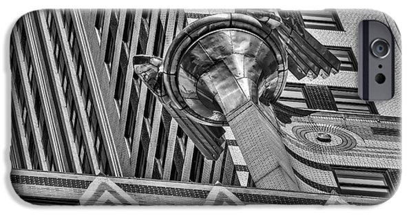 Chrysler Building Gargoyle Bw IPhone Case by Susan Candelario