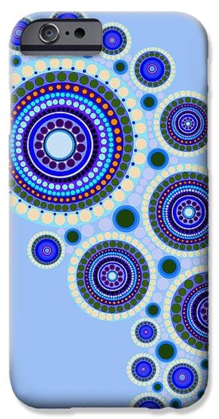 Circle Motif 117 IPhone Case by John F Metcalf