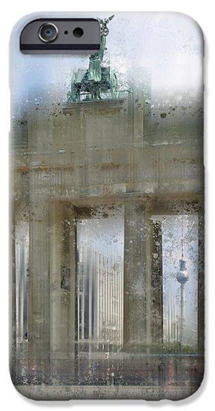 City-art Berlin Brandenburg Gate IPhone Case by Melanie Viola