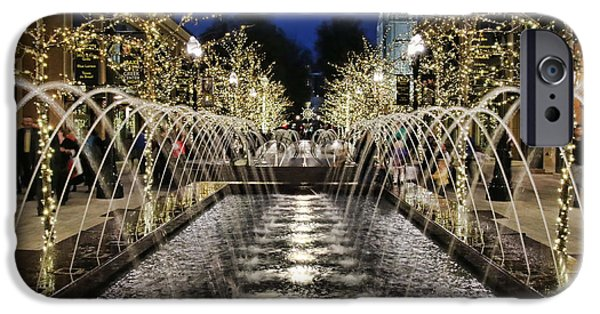City Creek Fountain - 2 IPhone Case by Ely Arsha