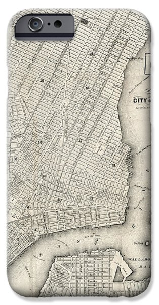 City Of New York Circ 1860 IPhone Case by Edward Fielding