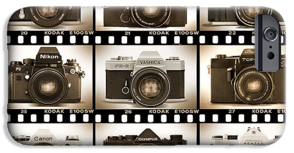 Classic 35mm S L R Cameras IPhone Case by Mike McGlothlen