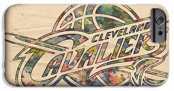 Cleveland Cavaliers Poster Art IPhone Case by Florian Rodarte