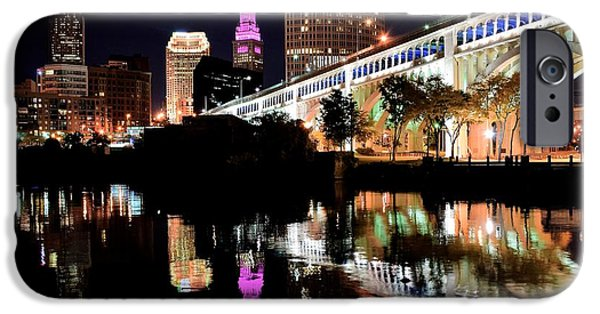 Cleveland Ohio Reflects IPhone Case by Frozen in Time Fine Art Photography
