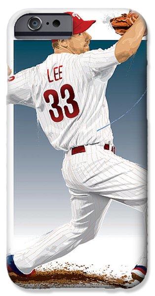 Cliff Lee IPhone Case by Scott Weigner