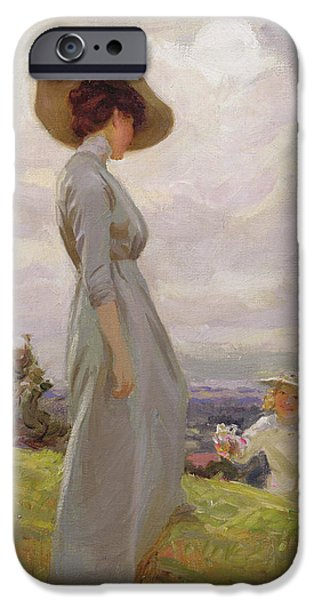 Climbing Up The Hillside IPhone Case by Frederick Stead