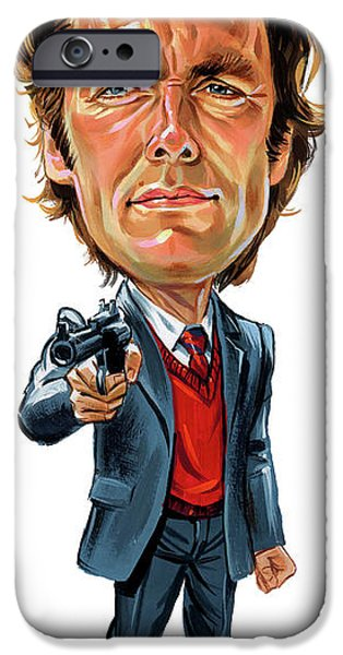 Clint Eastwood As Harry Callahan IPhone Case by Art