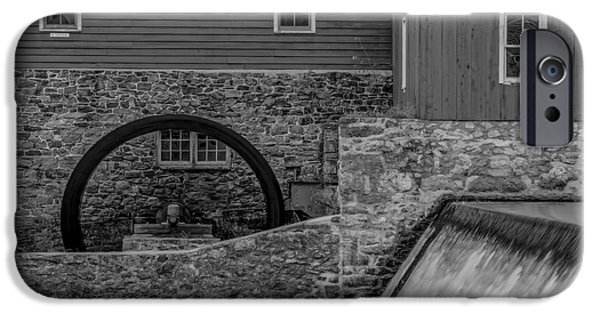 Clinton Red Mill Bw IPhone Case by Susan Candelario