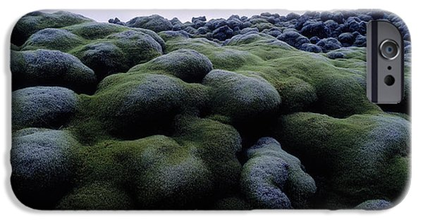 Close-up Of Moss On Rocks, Iceland IPhone Case by Panoramic Images