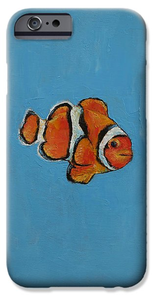 Clownfish IPhone Case by Michael Creese