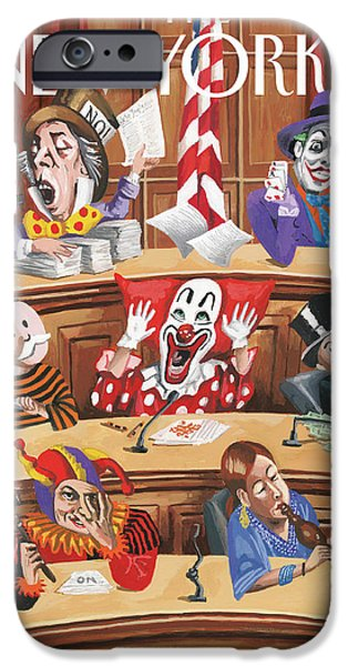 Clowns, Fools And Jokers Preside Over Congress IPhone Case by Mark Ulriksen